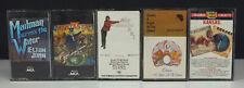 Lot 5 Classic Rock Cassette Tapes - Elton John / Queen / Kansas / Nick Lowe