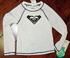 Roxy girls white rashguard swimsuit UPF 50 sun shirt  size 3 / 3T