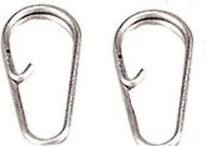 10 QUICK CHANGE KNOT CLIPS LINKS 4 RAPID CHANGE OF LEADS PERKS RIGS SEA FISHING