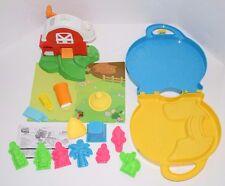 Lot Of Moon Sand Toys Molds Carry Case Farm Barn Set