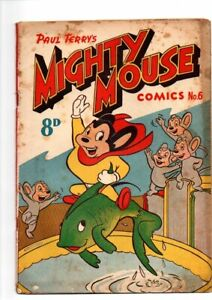 MIGHTY MOUSE     No 6  1954    .GOLDEN   AGE AUSTRALIAN  COMIC  FINE
