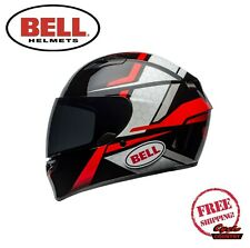 BELL QUALIFIER MOTORCYCLE HELMET FLARE GLOSS BLACK RED DOT APPROVED NEW