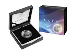 Australia 2019 $5 The Earth and Beyond The Moon silver Proof Domed Coin