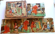 Vintage Wood Block Puzzle Fairy Tales Red Riding Hood Snow White Cinderella
