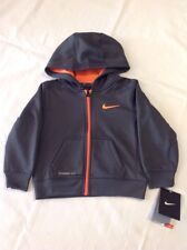 Toddler Boys Nike ThermaFit Full Zip Hoodie Gray Polyester 2T NWT