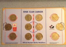 OFFICIAL 1998 TEAM CANADA OLYMPIC HOCKEY MEDALLION COMPLETE