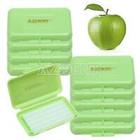 10 Packs Dental Orthodontics Wax Green-Apple Scent For Braces Gum Irritation