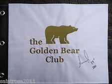 2017 Solheim Cup ANNIKA SORENSTAM Signed Flag Jack Nicklaus Golden Bear Club