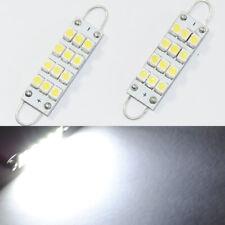 2x White 42mm 44mm 12SMD Rigid Loop Festoon LED Light Bulb 561 562 567 564 212-2