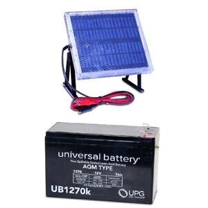 NEW UPG UB1270 12V 7AH Battery Liftmaster CSL-24VDC & 12V Solar Panel Charger
