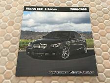 BMW DINAN E60 5 SERIES PERFORMANCE UPGRADE BROCHURE 2004 - 2008 USA EDITION