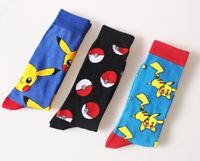 New Unisex Fashion Cool Casual Pikachu Pokemon Socks Warm Cotton Happy Socks