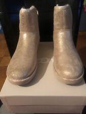 UGG ABREE metallic gold STARDUST mini boots EU 38 Size 7 NIB Women's.