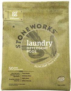 Stoneworks Natural Laundry Detergent Powde, 1.65 lb (50 loads) 1 pack Olive Leaf