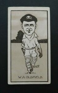 Cigarette Card Sunripe - Caricatures of Famous Cricketers 1926 W Oldfield N.S.W.