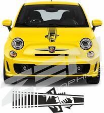 Fiat 500 595 696 Abarth scorpion Bonnet Stripe Decal Sticker any colour