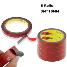5PCS Double Sided Foam Adhesive Tape Automotive Truck Car 3m x 10mm Attachment