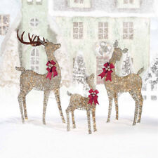 Indoor/Outdoor Christmas Reindeer Family - Set of Three with 650 LED Lights