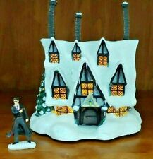 New ListingBradford Exchange Harry Potter Illuminated Village Three Broomsticks W/ Harry