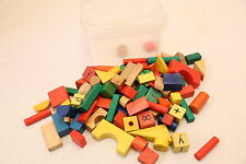 massive bundle wooden play blocks vintage wooden blocks 88 with container