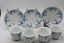 CHINA GARDEN TEA SET (3 SAUCERS AND 4 CUPS)