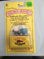 MJ7 Matchbox - 1991 Matchbox Originals - No. 7 Horse Drawn Milk Float - Blue