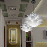 Living Bedroom-Retro Ceiling Pendant Light Lamp Shade Lampshade Lotus Chandeli
