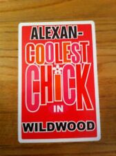 ALEXAN Coolest Chick In Wildwood New Jersey Personalized Wall Door Sign Alexian