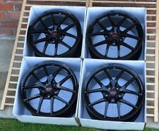 "Subaru Sti Oem Wheels rims Factory OEM Black 18"" 18x8.5 +55 5x114.3"