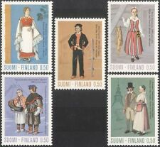 Finland 1972 Traditional Costumes/Clothes/Textiles/Design/People 5v set (s333r)