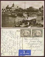 ADEN 1950 PPC FERRY BOAT REAL PHOTO AIRMAIL 2 x 2A