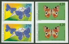 Andorra 1993 Butterflies set in imperf vertical pairs-2