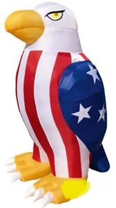 HALLOWEEN JULY 4TH PATRIOTIC MEMORIAL DAY EAGLE USA  INFLATABLE AIRBLOWN 8 FT