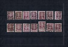 Danzig - Porto P 1-14 - Infla-echt gestempelt - alle gepr. BPP  - LUXUS !