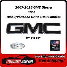 2007-2015 GMC Sierra 2500 Black Polished GMC Front Grille Emblem AMI 96501KP