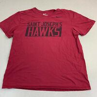 Nike T-shirt Mens XL Saint Josephs Hawks Red Short Sleeve Casual