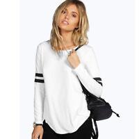 Mujer Holgado Camiseta manga larga otoño Informal Blusa Camisa De Algodón Suéter