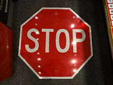 """30"""" x 30"""" Metal Stop Red And White Transportation Street Road Sign"""
