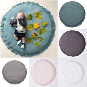 Soft Round Baby Activity Play Mat Cotton Rug Lace Carpet Mat Home Nursery Decor
