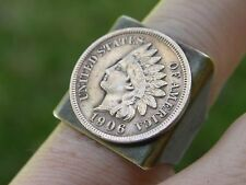 Indian Head penny coin 1900 s ring Adjustable nice for FSU fans Seminole tribal