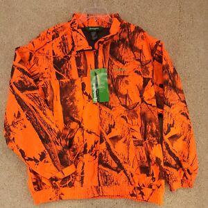 REMINGTON Hooded Blaze Orange Camo Fleece Zippered Jacket Size 2XL (50/52)