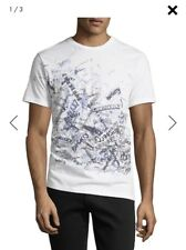 New Auth. Burberry Becklow Men T-shirt Burberry Graphic All Over White L $225