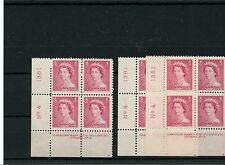 #327 3c Karsh plate blocks #4 Lower LEFT Cat $6 ea  MNH Canada mint