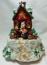 Music Box Santa House by San Francisco Music Box Company plays Happy Holidays