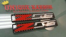 REAL 2x Carbon Fiber Z06 Badge Badges Corvette 2 Emblem C7 C7 Z51 Z07