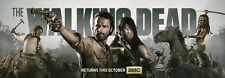 """The Walking Dead 1 2 3 4  TV Zombie Fabric poster 36"""" x 13"""" Decor 75"""