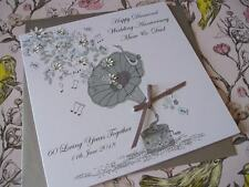 Handmade Personalised 60th Diamond Wedding Anniversary Card