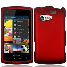 For Kyocera Rise C5155 Rubberized HARD Protector Case Snap On Phone Cover Red