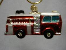 Fire Truck Ornament Glass Old World Christmas 46005 15