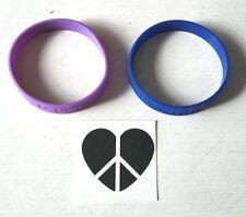 New Aeropostale Bethany Mota Motavator Purple & Blue Rubber Bracelets +Tattoo